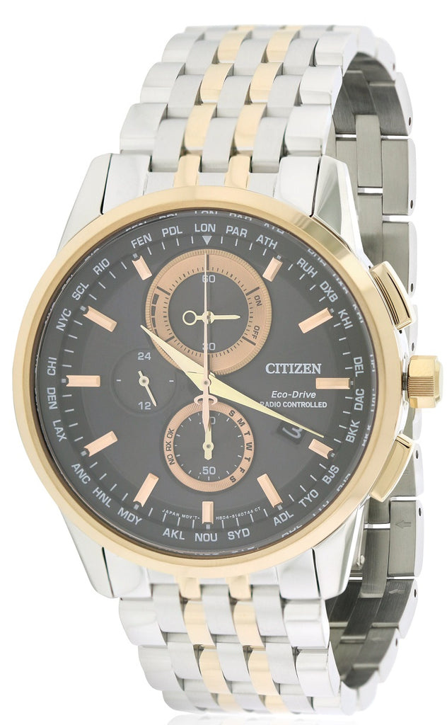 Citizen Eco-Drive World Chronograph A-T Mens Watch