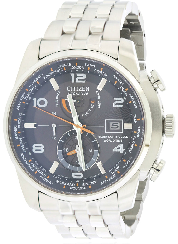 Citizen Eco-Drive World Time AT Radio Mens Watch