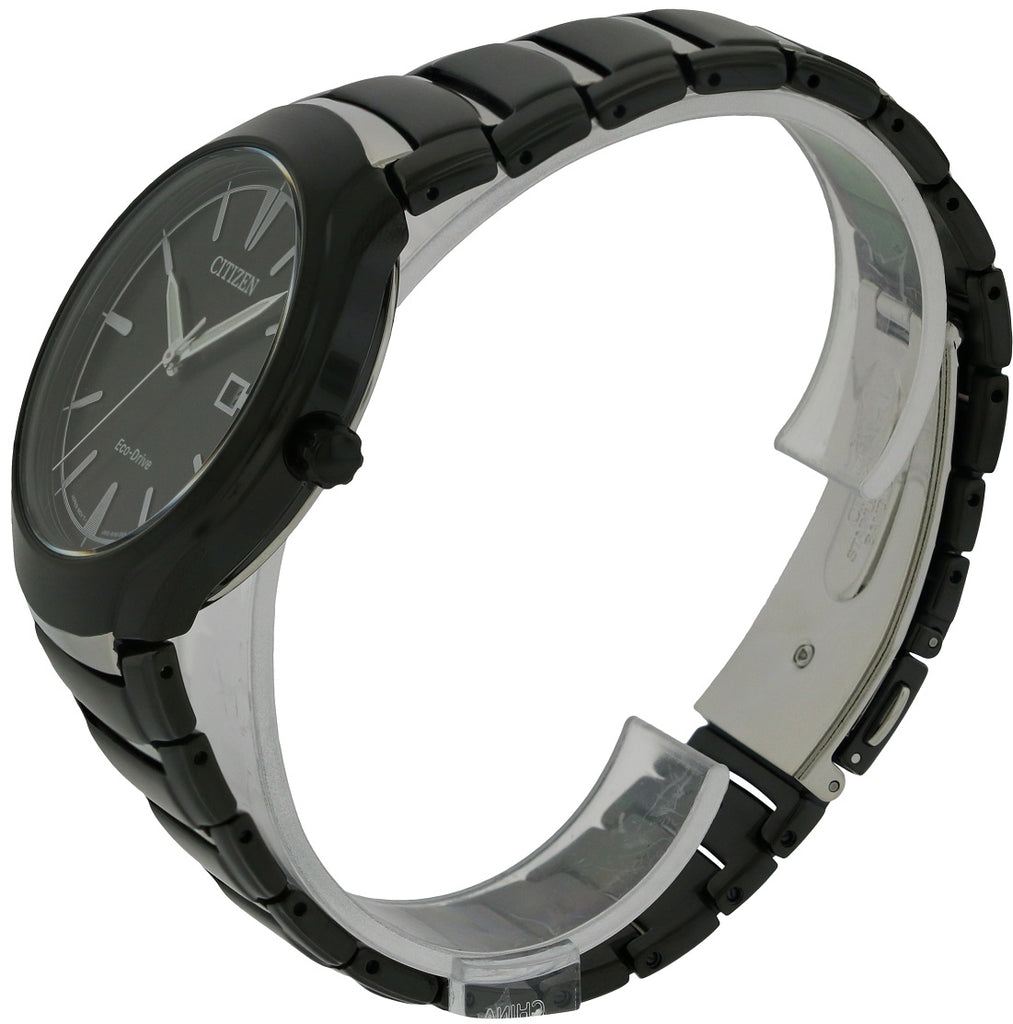 Citizen Eco-Drive Paradigm Black Stainless Steel Mens Watch