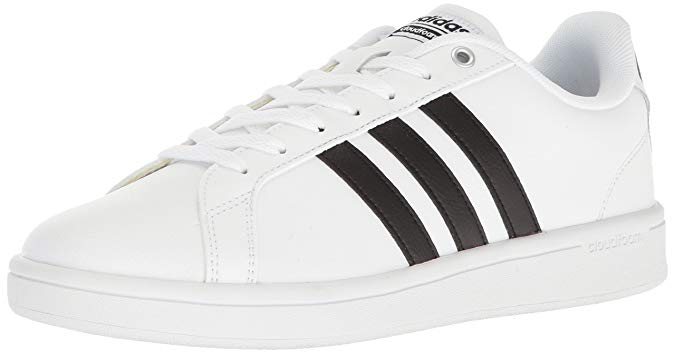 Adidas Mens Cloudfoam Advantage Sneakers White/Black - Size 11