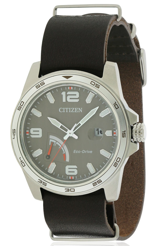 Citizen Eco-Drive PRT Leather Mens Watch
