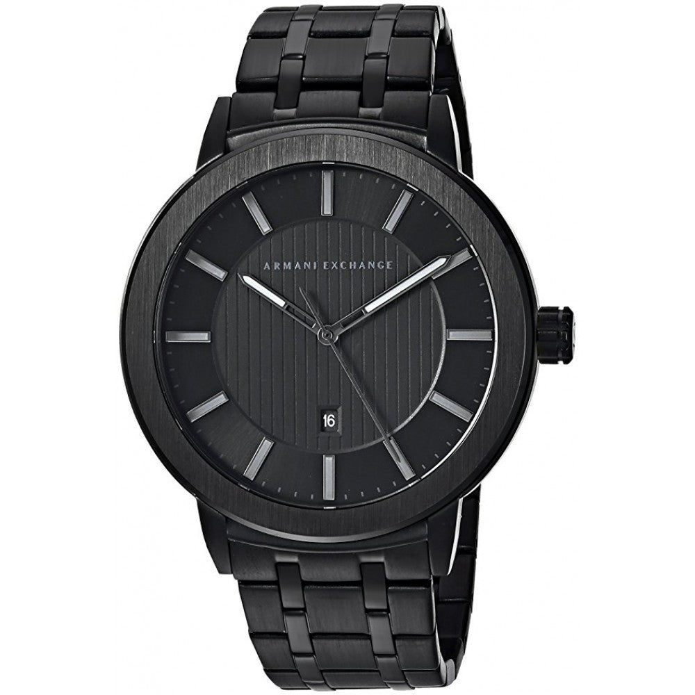 Armani Exchange Maddox Black Stainless Steel Mens Watch