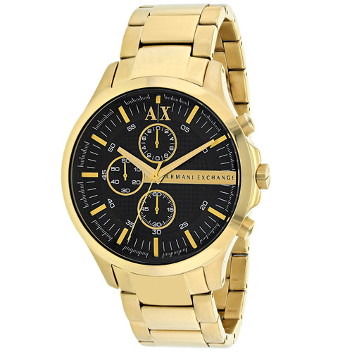 Armani Exchange Gold-Tone Chronograph Mens Watch