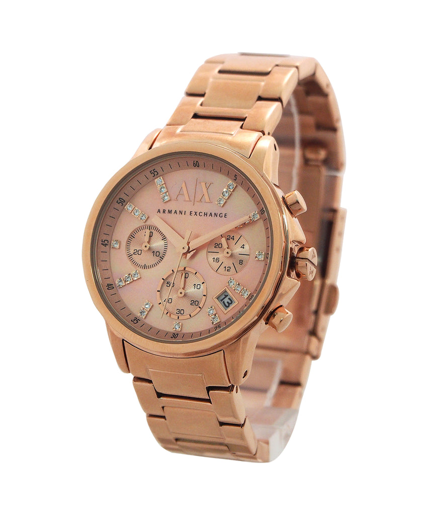 Armani Exchange Chronograph Rose Gold-Tone Ladies Watch