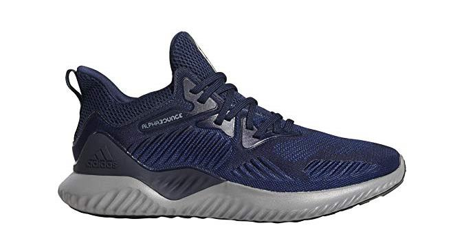 adidas Mens Alphabounce Beyond Team Running Shoes - Collegiate Navy/White/Black - 11.5 M