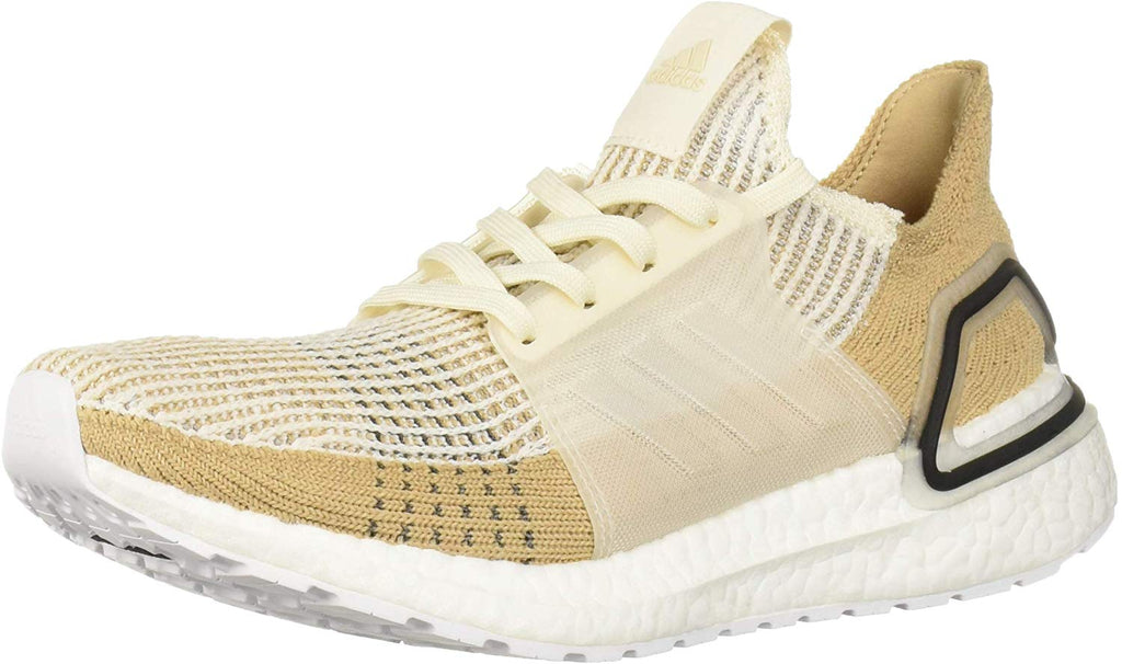 adidas Womens Ultraboost 19 Running Shoes Sneakers - Chalk White/Pale Nude/Black - Size 9