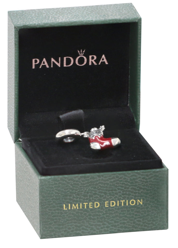 PANDORA 2017 Engraved Christmas Stocking Limited Edition Charm -