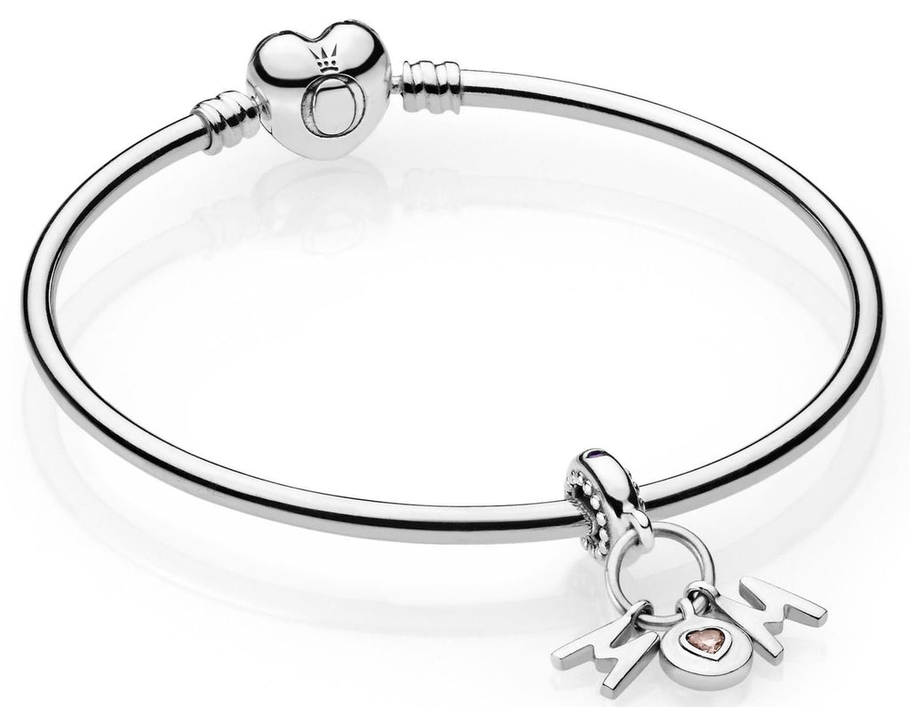 PANDORA Perfect Mom Bangle Gift Set - Pink & Liliac Crystals -