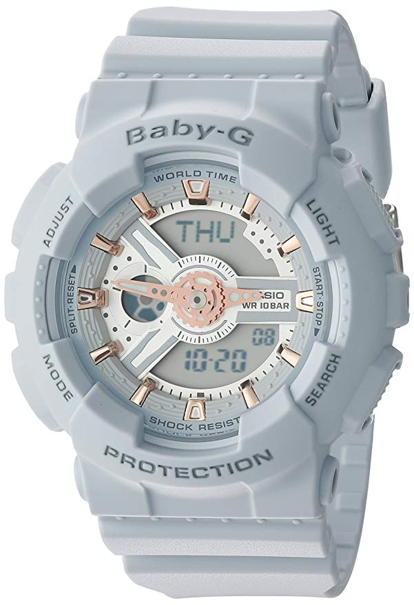 Casio Baby-G Gray Digital Analog Ladies Watch