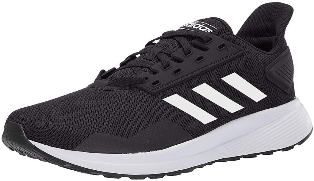 adidas Mens Duramo 9 Running Shoe - Black/White - 10