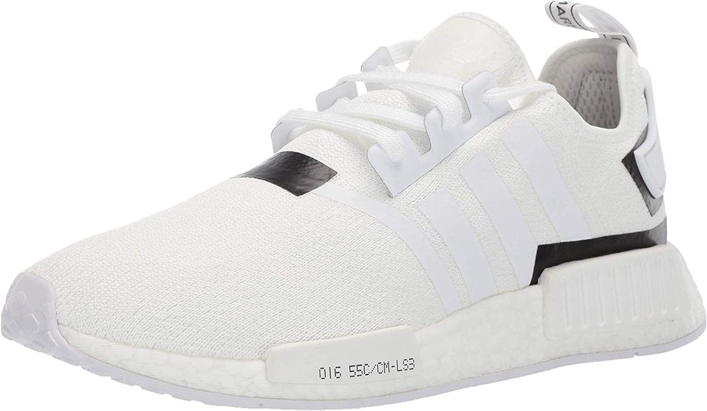 adidas Originals Mens NMD_R1 Running Shoe Sneaker - White/Black - Size 8.5