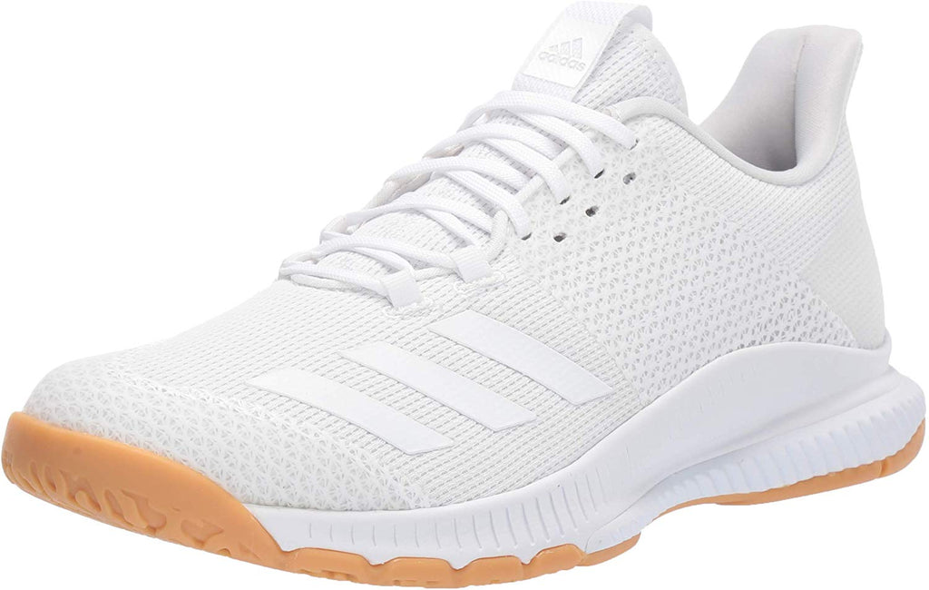 adidas Womens Crazyflight Bounce 3 Volleyball Shoe - White/White/Gum - Size: 6