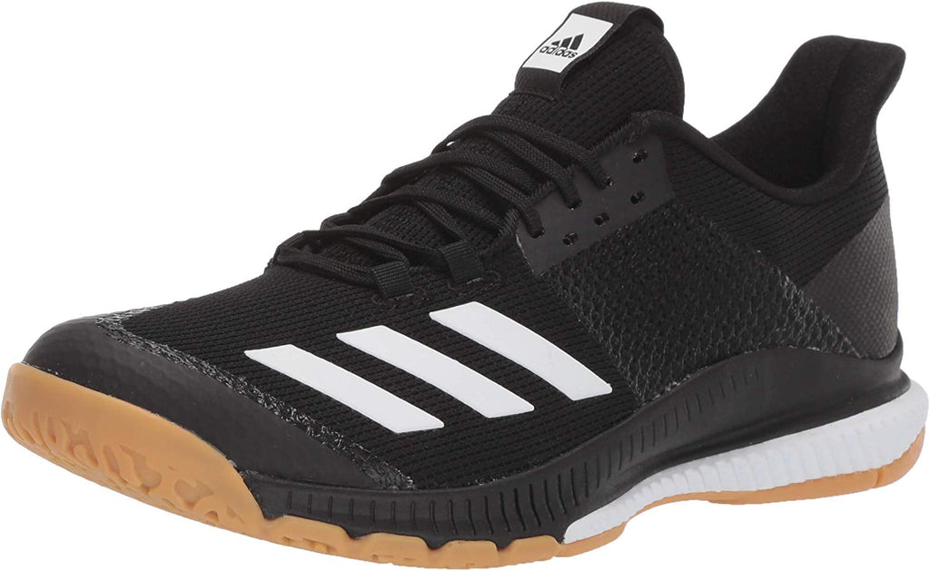 adidas Womens Crazyflight Bounce 3 Volleyball Shoe - Black/White/Gum - Size: 7.5