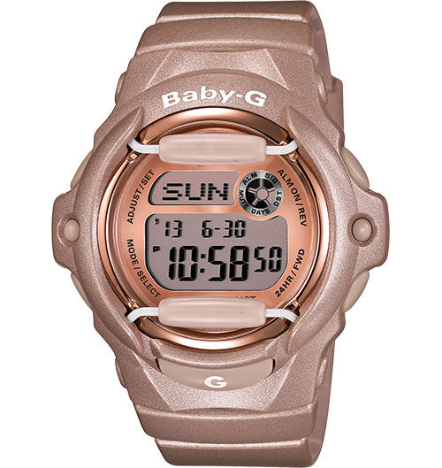 Casio Baby-G Rose Gold-Tone Ladies Watch