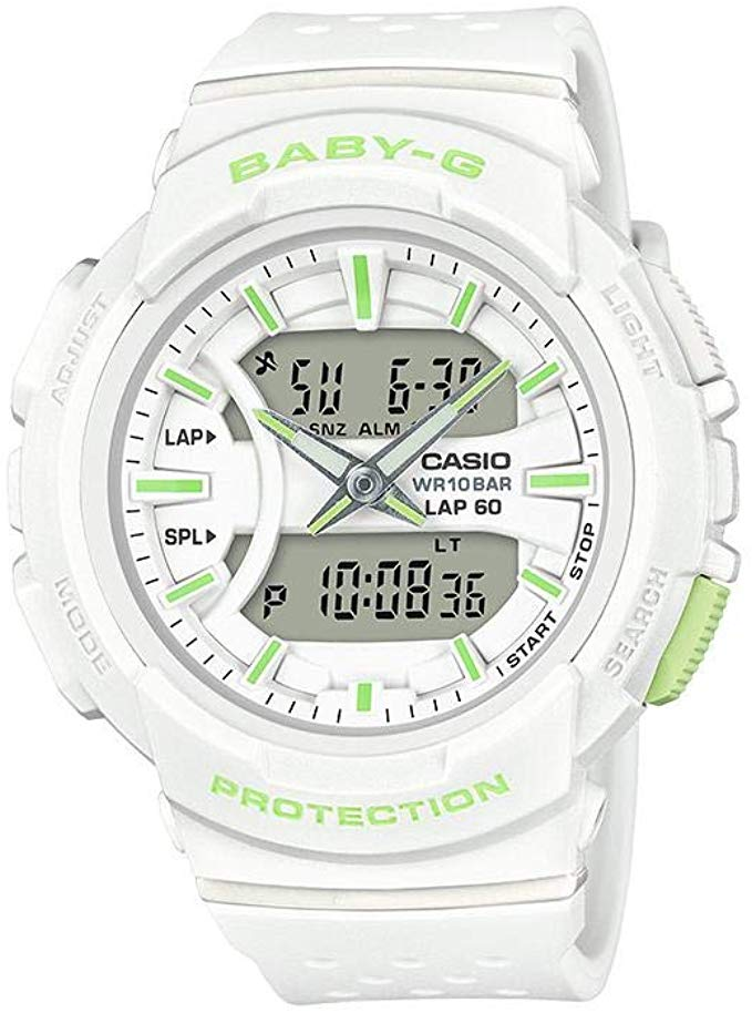 Casio BABY-G ANA-DIGI URBAN RUNNER WHITE