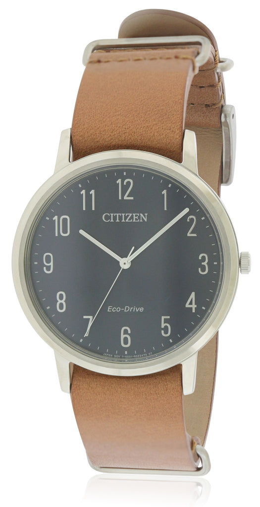 Citizen Eco-Drive Chandler Leather Mens Watch