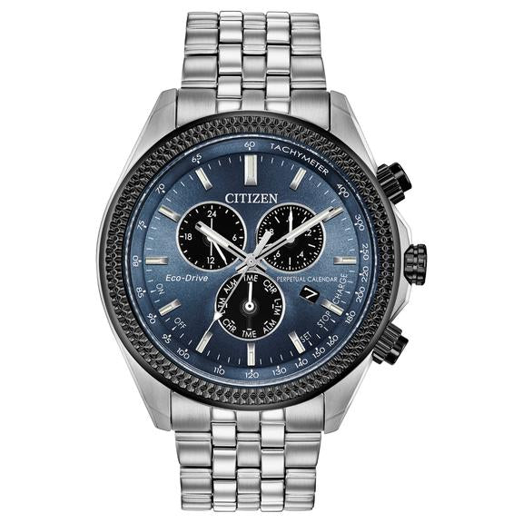 Citizen Eco-Drive Brycen Perpetual Chronograph Mens Watch