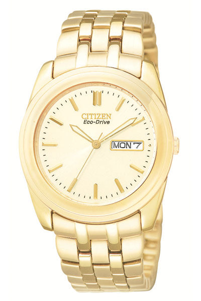 Citizen Eco-Drive Gold-Tone Mens Watch BM8222-56P