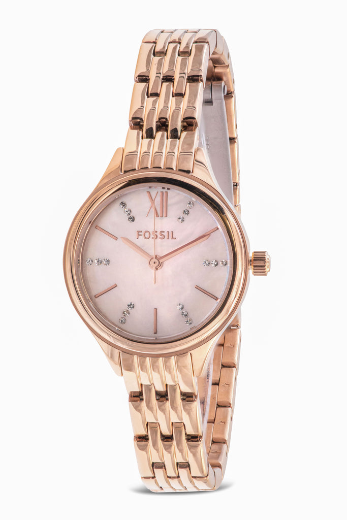 Fossil Suitor Mini Rose Gold-Tone Stainless Steel Ladies Watch