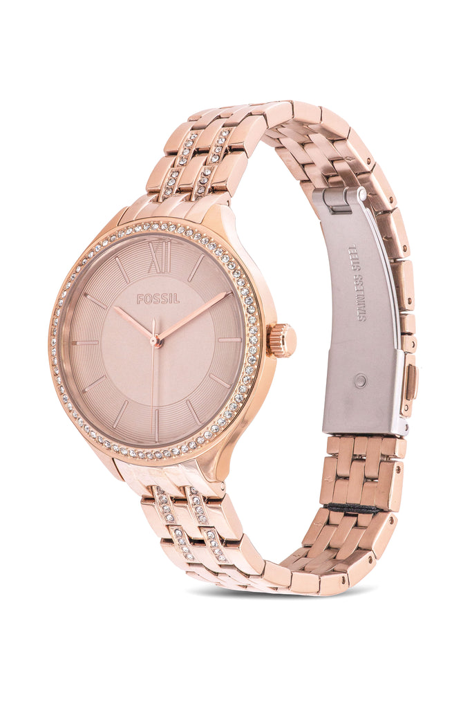 Fossil Suitor Pastel Pink Stainless Steel Ladies Watch