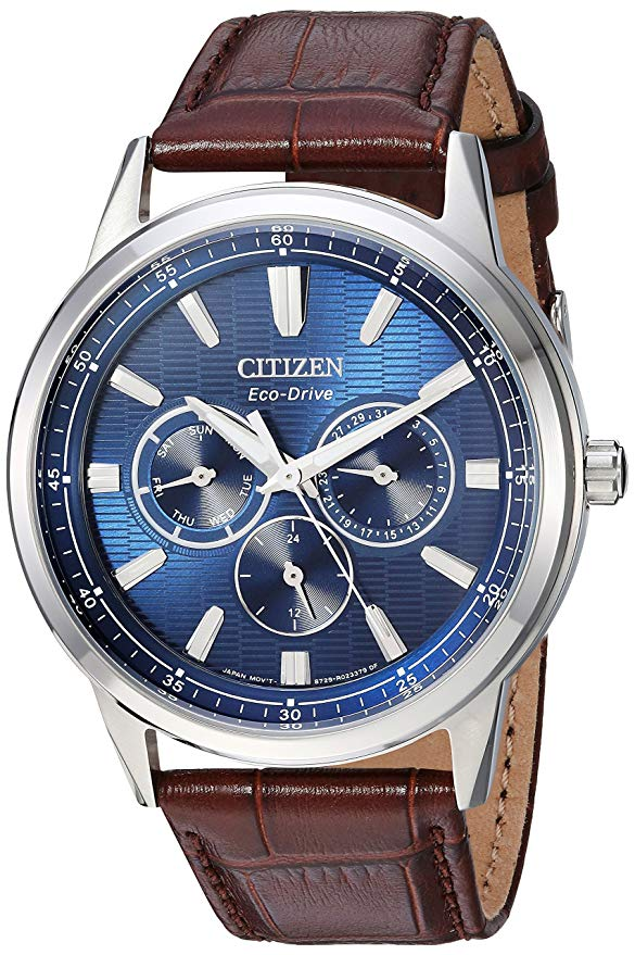 Citizen Eco-Drive Corso Leather Mens Watch