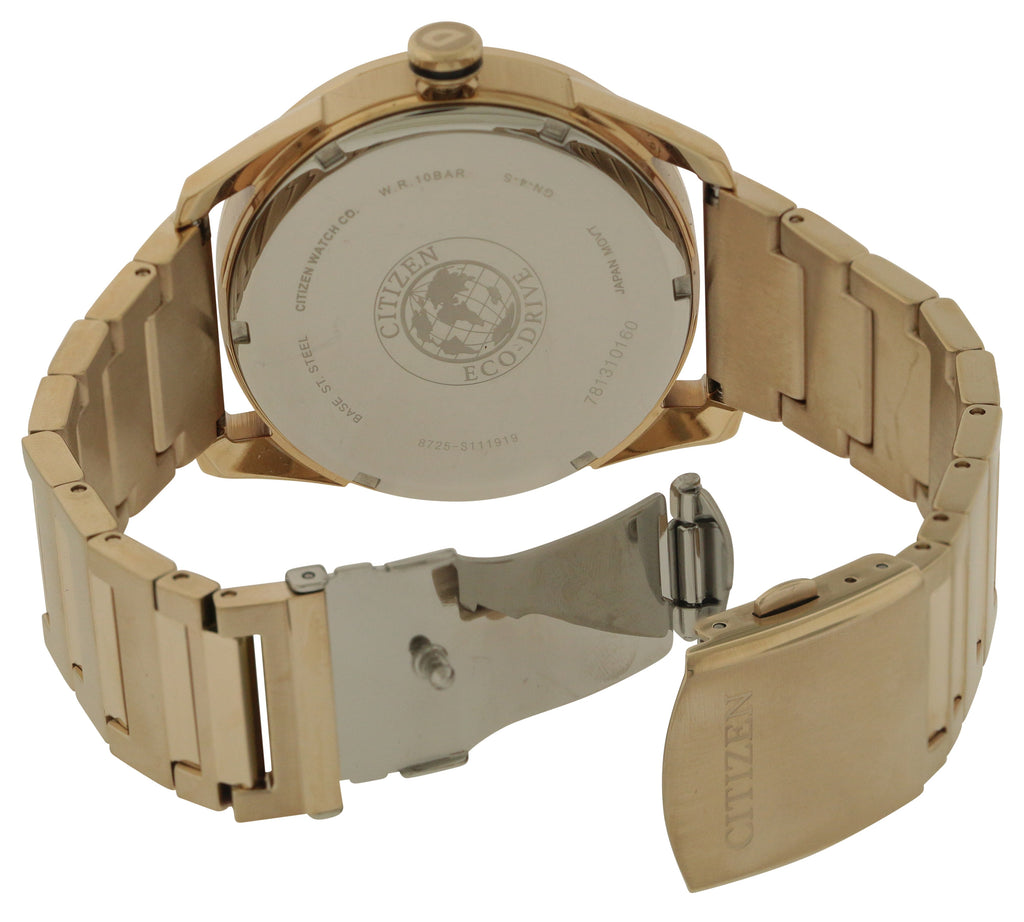 Citizen Eco-Drive Gold-Tone Stainless Steel Mens Watch