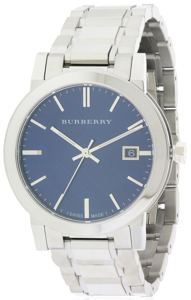 Burberry Large Check Stamped  Mens Watch