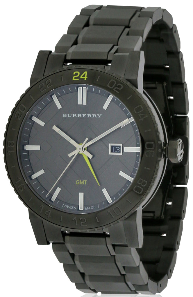 Burberry The New City Gunmetal Ion Unisex Watch
