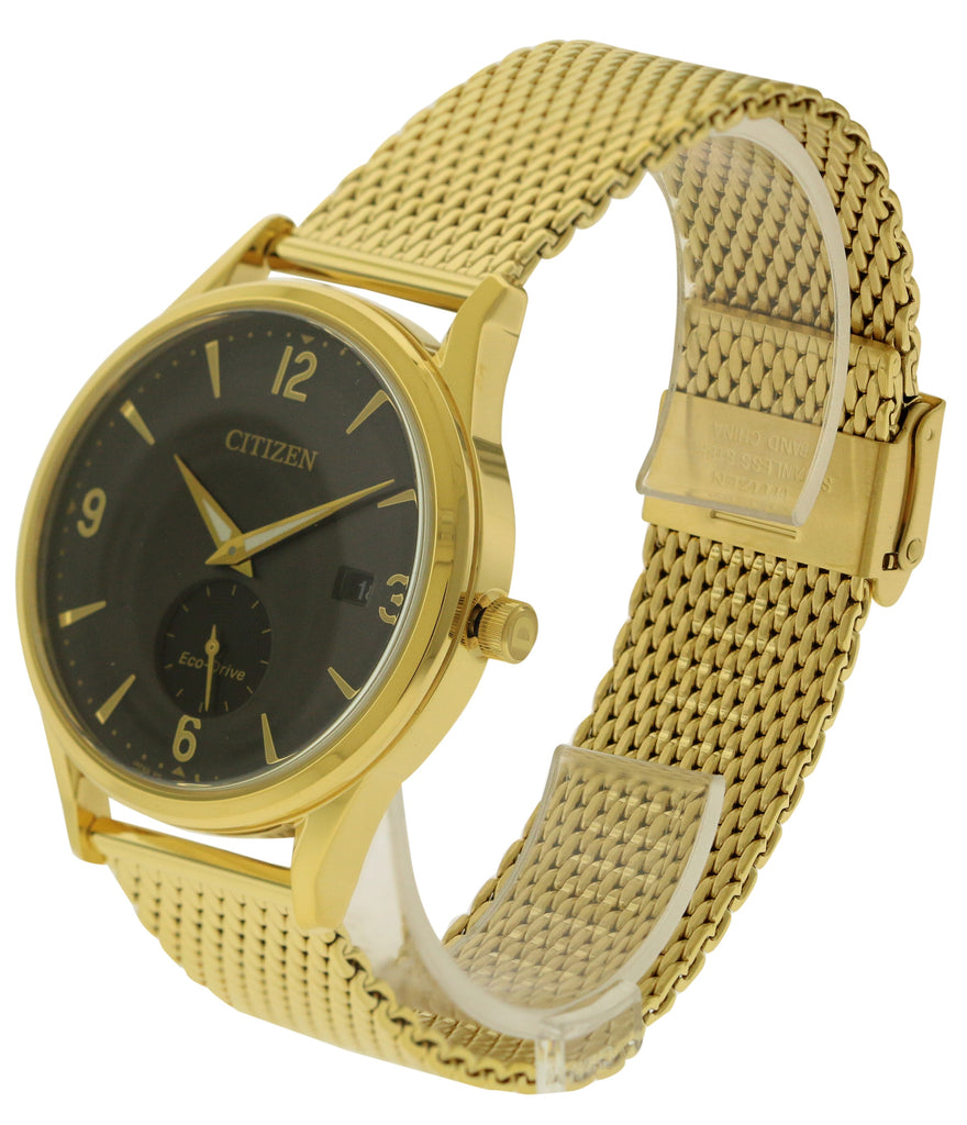 Citizen Eco-Drive Gold-Tone Mesh Mens Watch