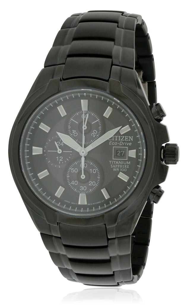 Citizen Eco-Drive Titanium Chronograph Mens Watch