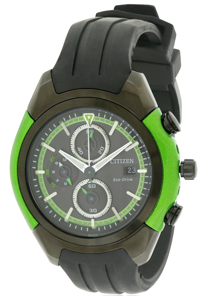 Citizen Eco-Drive Chronograph Rubber Mens Watch