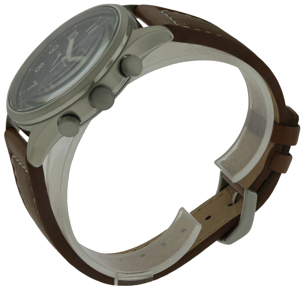 Citizen Eco-Drive Chandler Leather Chronograph Mens Watch