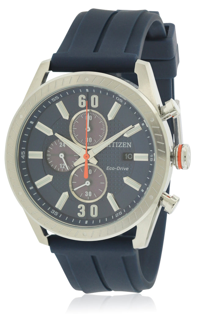 Citizen Eco-Drive Polyurethane Diver Chronograph Mens Watch