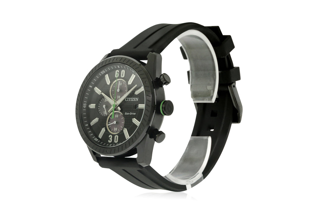 Citizen Eco-Drive CTO Chronograph Rubber Mens Watch