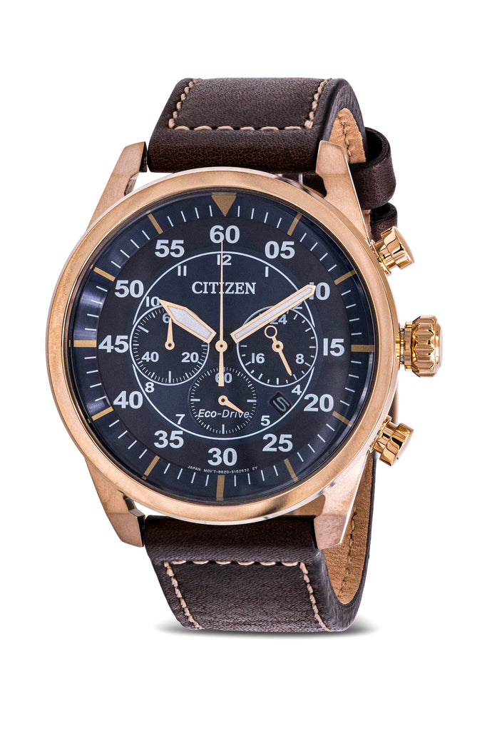 Citizen Eco-Drive Avion Chronograph Mens Watch