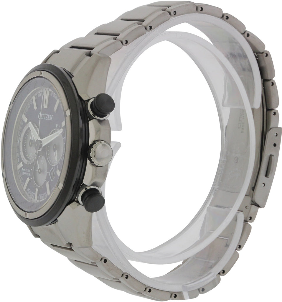 Citizen Eco-Drive Titanium Ti+IP Chronograph Mens Watch