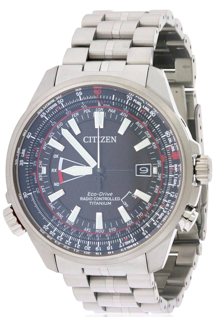 Citizen Eco-Drive Promaster Air Atomic Titanium Mens Watch