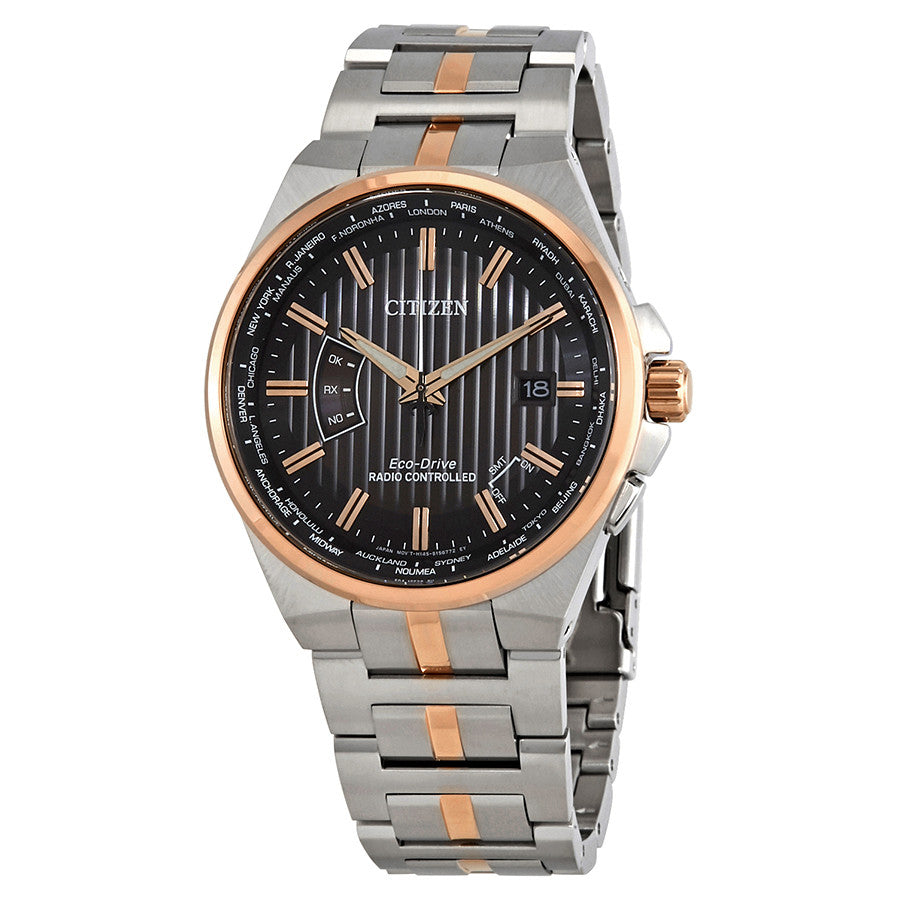 Citizen Eco-Drive World Perpetual A-T World Time Mens Watch