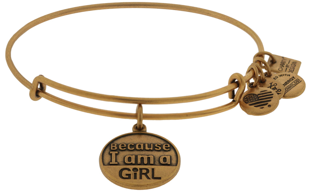 Alex and Ani Because I am a Girl Charm Bangle Bracelet -
