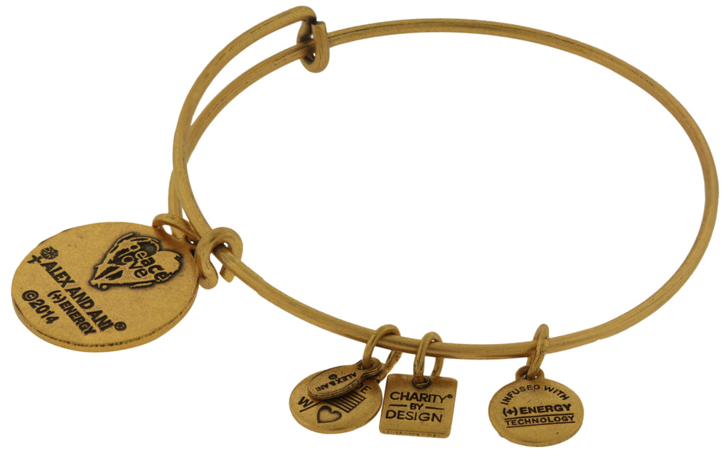 Alex and Ani Peace Of Mind Charm Bangle - Rafaelian Gold -