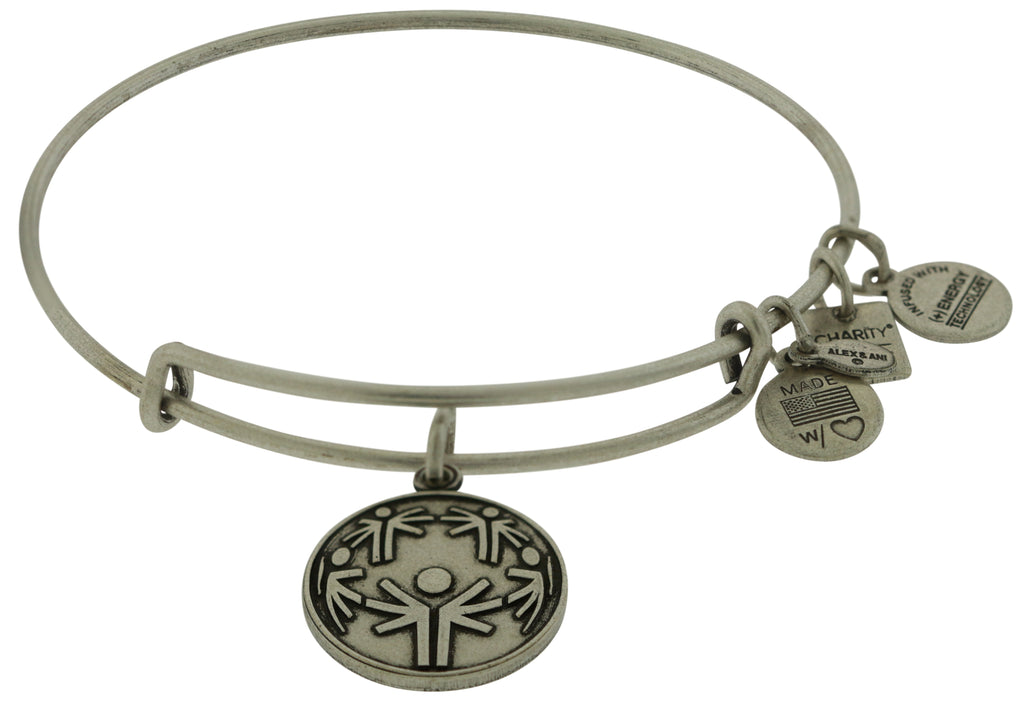 Alex and Ani Power of Unity Charm Bangle - Rafaelian Silver -