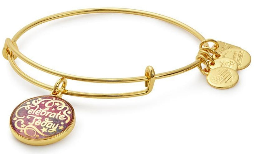 Alex and Ani American Cancer Society Celebrate Today Charm Bangle -