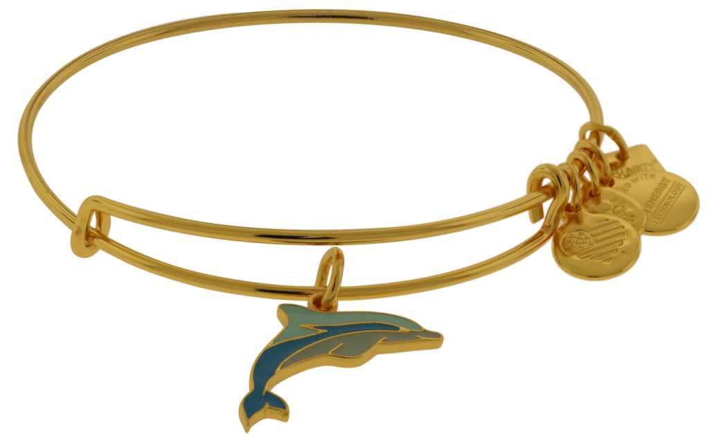 Alex and Ani Charity By Design Dolphin EWB Bangle Bracelet -