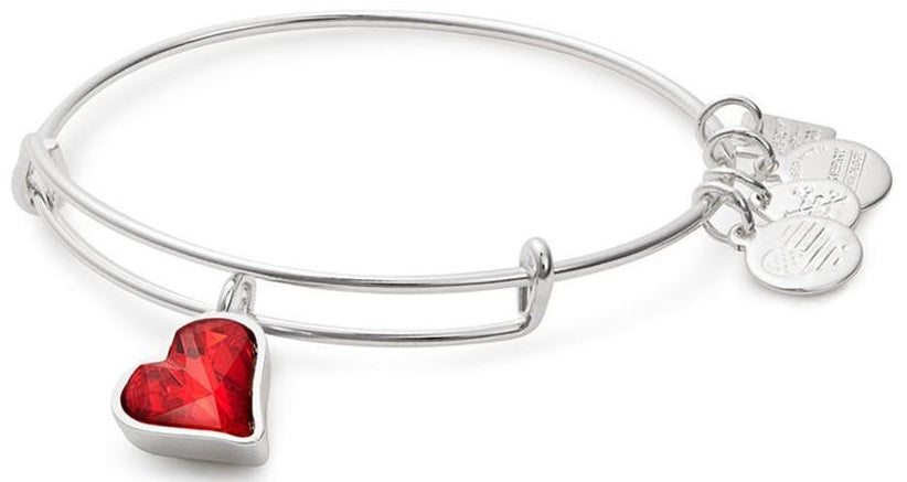 Alex and Ani (PRODUCT)RED Heart of Strength Charm Bangle -