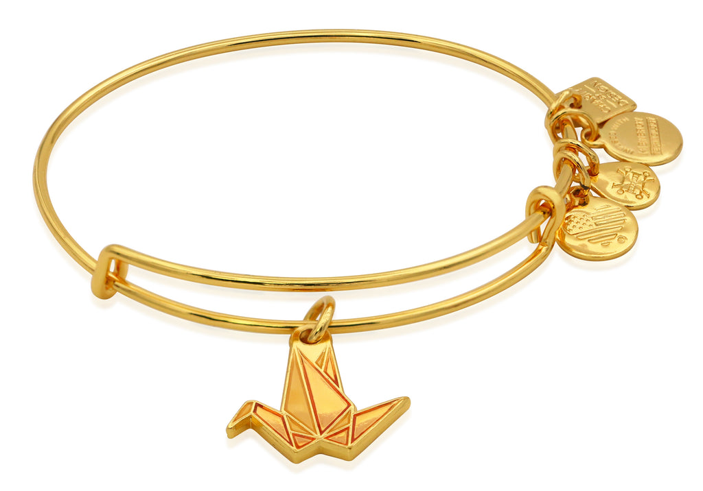 Alex And Ani Paper Crane Charm Bangle -
