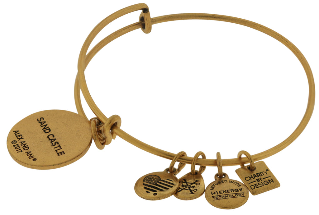 Alex and Ani Charity By Design Sand Castle EWB Bangle Bracelet  -