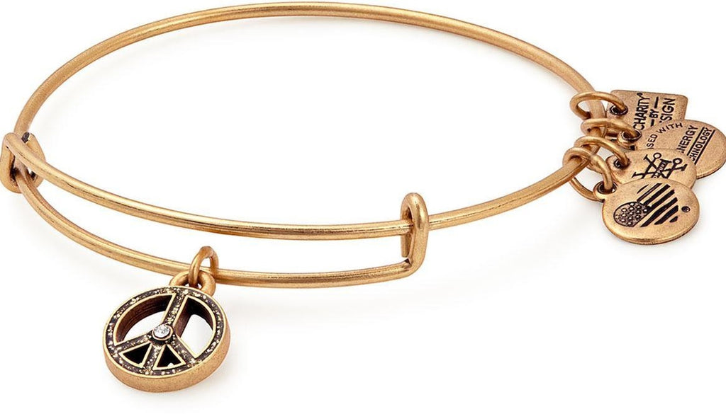 Alex and Ani World Peace Charm Bangle -