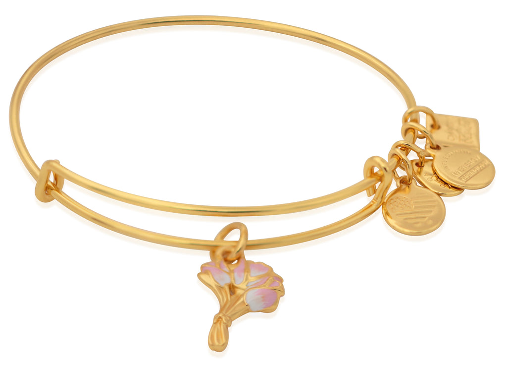 Alex And Ani Charity by Design - Pink Tulips EWB - SG Bracelet -