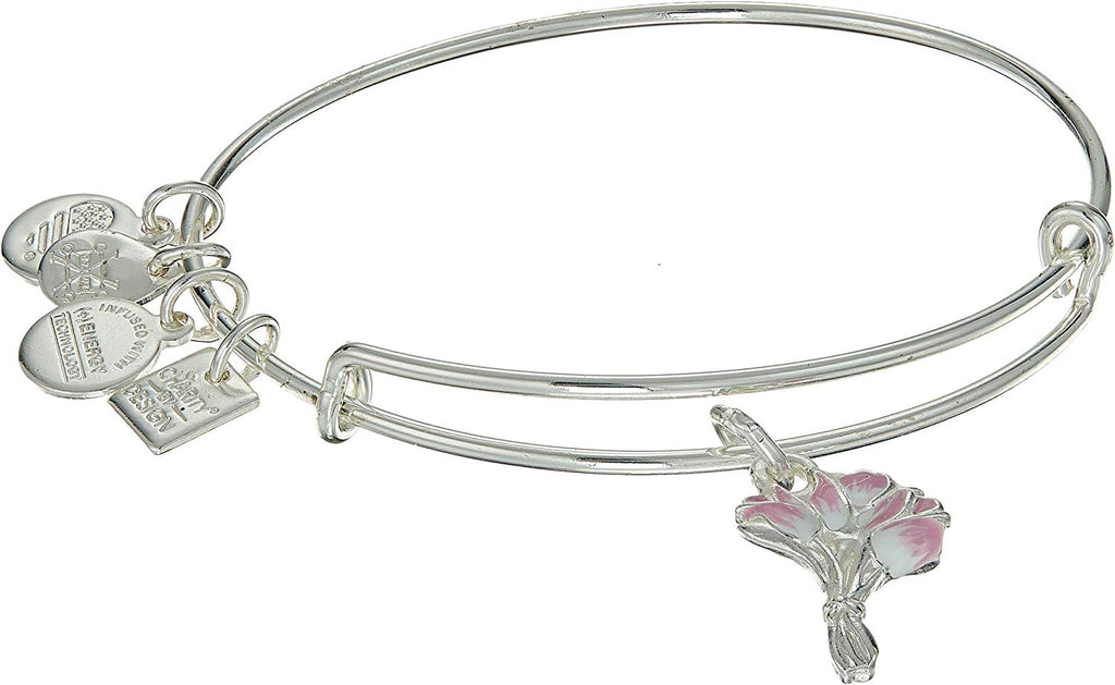 Alex And Ani Charity by Design - Pink Tulips EWB - SS Bracelet -