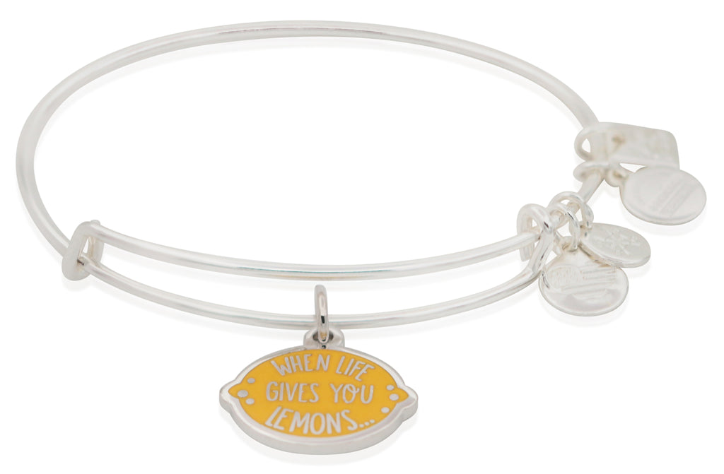 Alex And Ani When Life Gives You Lemons Bangle Bracelet - Shiny Silver -